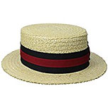 Braid Boater Hat (with ribbon)