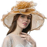 Wide Brim Hat for Royal Ascot (beige/tan)